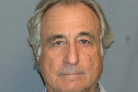 Booking mug shot of Bernard Madoff