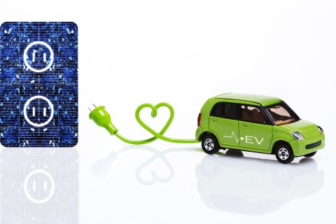 electric car and socket