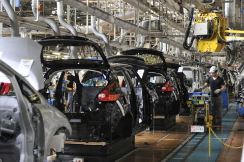 Japan's auto giant Nissan Motor employee
