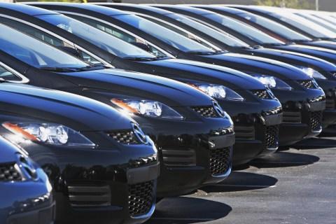 Cars at the dealership