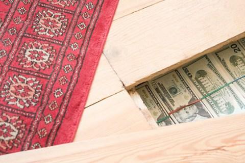 Money Under Floor