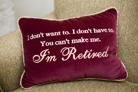 Retirement pillow