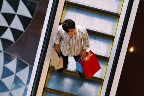 Man shopping at the mall