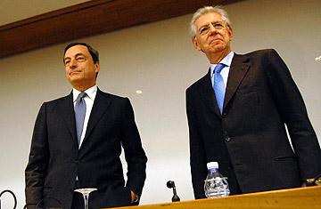 Mario Monti and Mario Draghi