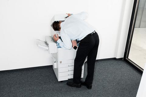 Man in Printer