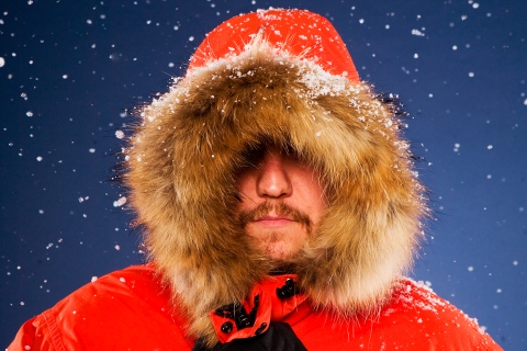 Man in warm winter coat