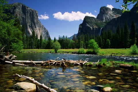 Yosemite Valley, Merced River, California