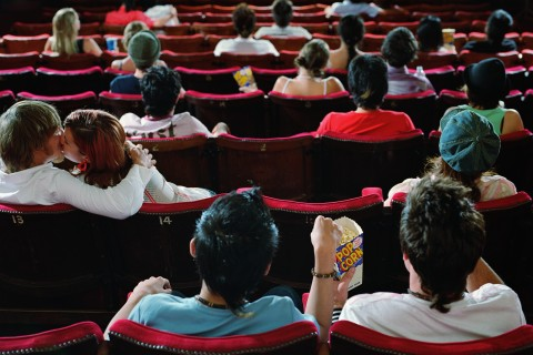 Young people at the movies