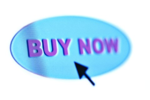 Buy now icon with arrow