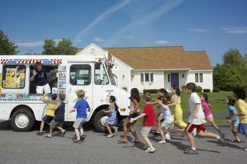 Children and Ice Cream Truck