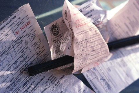 Parking Tickets on a Windshield