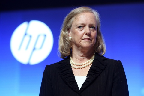 Hewlett-Packard President and CEO Meg Whitman during the Global Influencer Summit 2012 in Shanghai, on May 10, 2012.