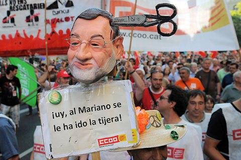 Demonstration in Spain