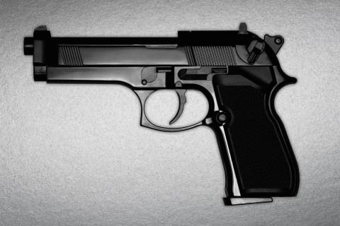 A black gun