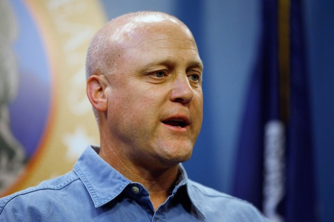 Jindal, Landrieu Hold Press Conference On Preparations For Isaac