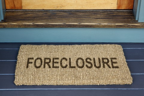 Foreclosure on Door Mat