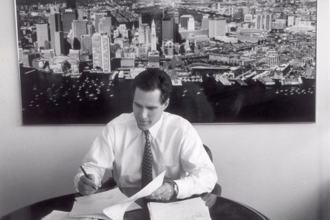 image: Mitt Romney as Chief Executive of Bain Capital, Nov. 10, 1993.