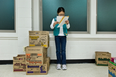"""image: For 100th anniversary of Girl Scouts  we focus on a Silver Spring troop on """"Thinking Day"""""""