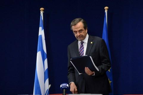 Greek Prime Minister Antonis Samaras arr