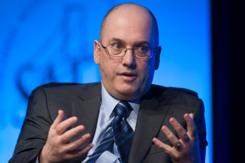 Hedge fund manager Cohen, founder and chairman of SAC Capital Advisors, responds to a question during an interview at the SALT Conference in Las Vegas