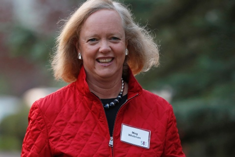 Hewlett Packard CEO and President Meg Whitman attends the Allen & Co Media Conference in Sun Valley, Idaho
