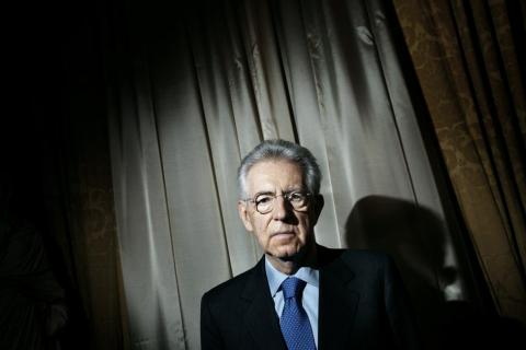 image: Mario Monti at Palazzo Chigi in Rome, Feb of 2012.