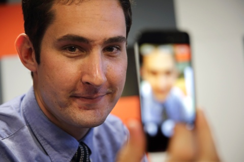 Kevin Systrom, Chief Executive of Instagram, the popular photo-sharing app now owned by Facebook speaks during an interview with Reuters at the LeWeb technology conference in Aubervilliers