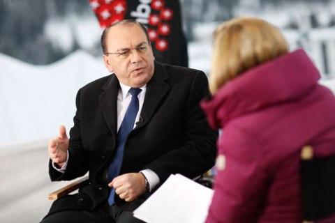 Axel Weber at Davos