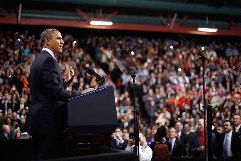 President Barack Obama delivers remarks on immigration reform at Del Sol High School in Las Vegas on Jan. 29, 2013.