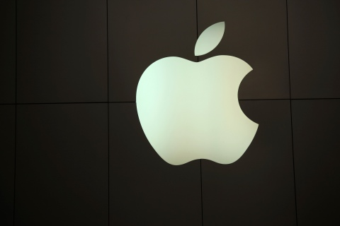 The Apple logo is pictured at the company's flagship retail store in San Francisco, Calif., on Jan. 23, 2013.