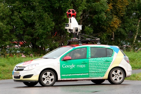 A Google Street View car is driven in Sundsvall