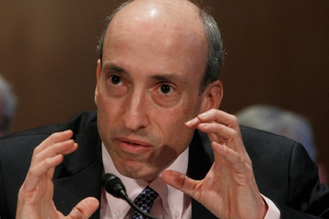 Gary Gensler testifies before the Senate Banking, Housing and Urban Affairs Committee in Washington