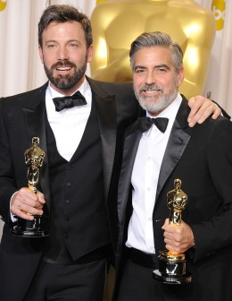 From left: Ben Affleck and George Clooney at the 85th Annual Academy Awards in Hollywood, Calif., on February 24, 2013.