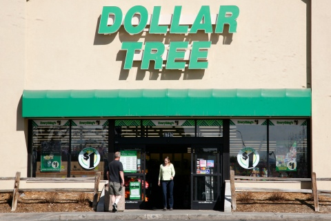 Shoppers enter a Dollar Tree store in Arvada, Colorado Feb. 25, 2009.