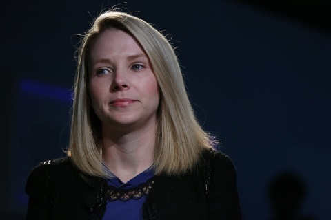 Marissa Mayer, chief executive officer of Yahoo! Inc., at a panel discussion on day three of the World Economic Forum in Davos, Switzerland, on Jan. 25, 2013.