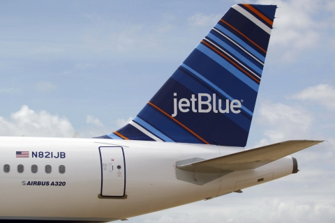 A JetBlue A320 in Mobile, Ala., on April 8, 2013.