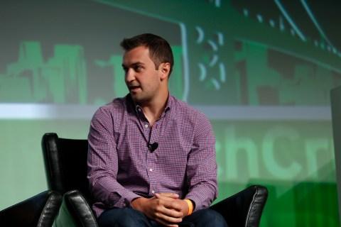 John Zimmer of Lyft speaks at TechCrunch Disrupt SF 2012 in San Francisco