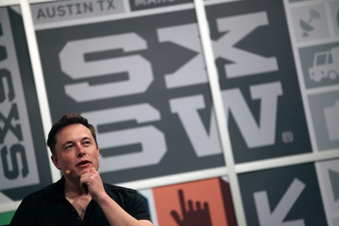 Elon Musk, the chief executive of Tesla Motor, speaks at the South by Southwest Interactive festival in Austin