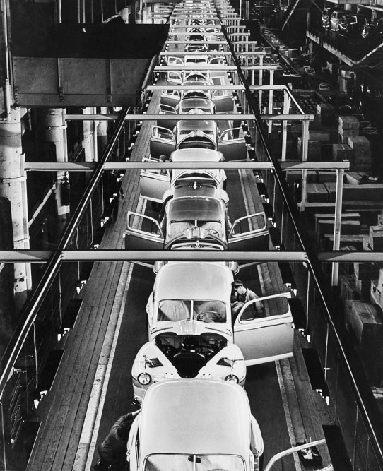 Ford Motor Company assembly line in Dearborn, Mich.
