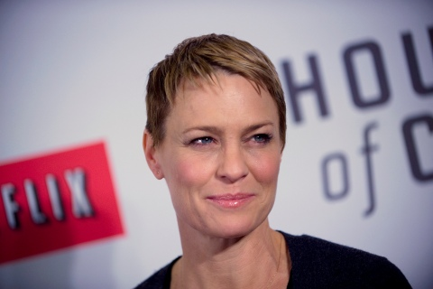 "Cast member Robin Wright arrives at the premiere of Netflix's television series ""House of Cards"" at Alice Tully Hall in the Lincoln Center in New York City"