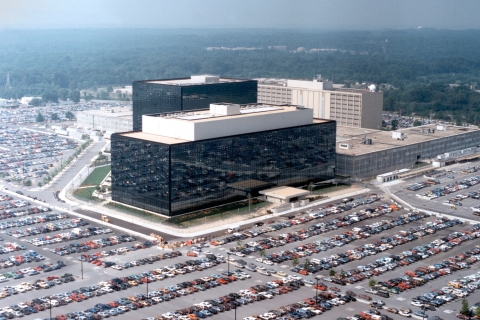 The National Security Agency (NSA) headquarters building in Fort Meade, Md.