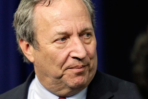 Lawrence Summers at the Eisenhower Executive Office Building in the White House complex, Friday, Dec. 17, 2010, in Washington.