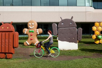 Android statues at Google's Mountain View campus.
