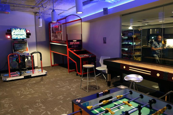 A view of the game room at Twitter's headquarters in San Francisco