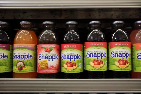 Snapple Beverages At A Supermarket Ahead Of Earnings